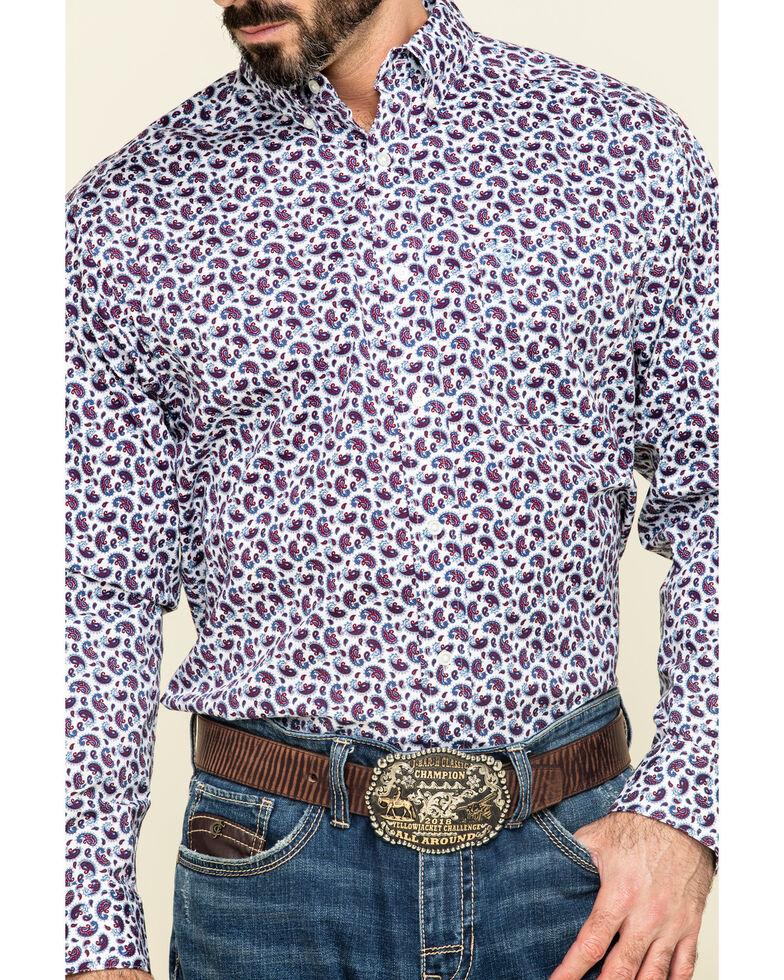 Ariat Men's Talladega Paisley Print Long Sleeve Western Shirt , White, hi-res