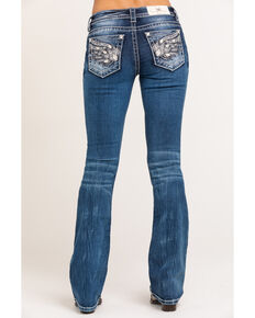 Miss Me Women's Medium Tribal Wing Bootcut Jeans, Blue, hi-res