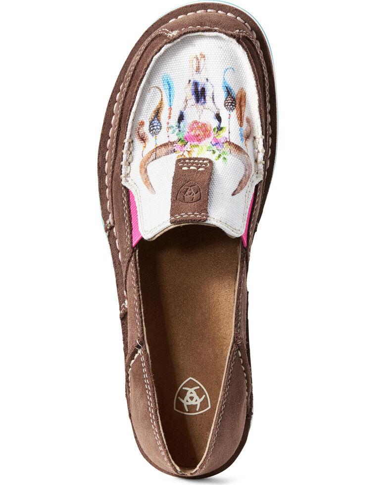 Ariat Women's Suede Cruiser Shoes - Moc Toe, Brown, hi-res