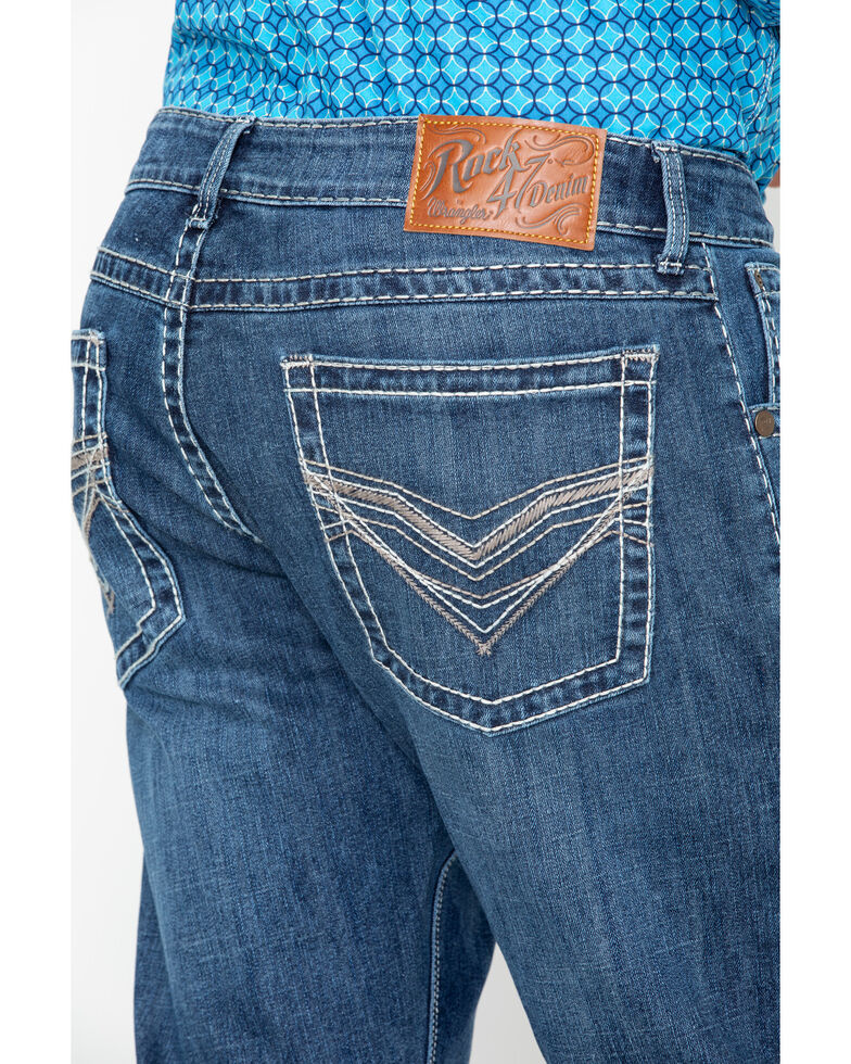 Rock 47 by Wrangler Men's Doo Wop Slim Straight Jeans, Blue, hi-res