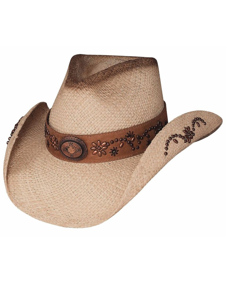Bullhide More Than A Memory Panama Straw Cowgirl Hat, Natural, hi-res
