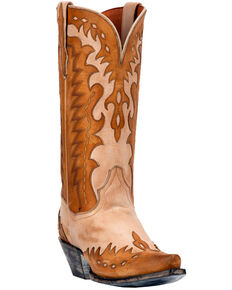 Dan Post Women's Mae Soft Strike Western Boots - Snip Toe, Tan, hi-res