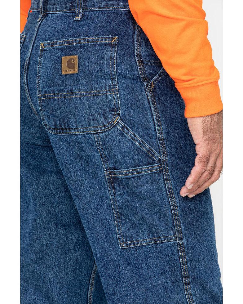Carhartt Flame Resistant Signature Denim Dungaree Work Jeans - Big & Tall, Brown, hi-res