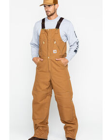 Carhartt Men's Zip-to-Waist Bib Work Overalls , Carhartt Brown, hi-res