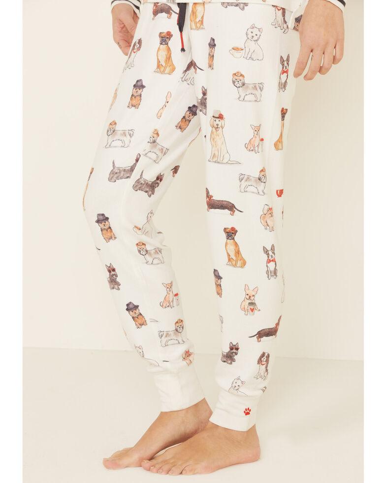 PJ Salvage Women's Ivory Dog Sweatpants, Ivory, hi-res