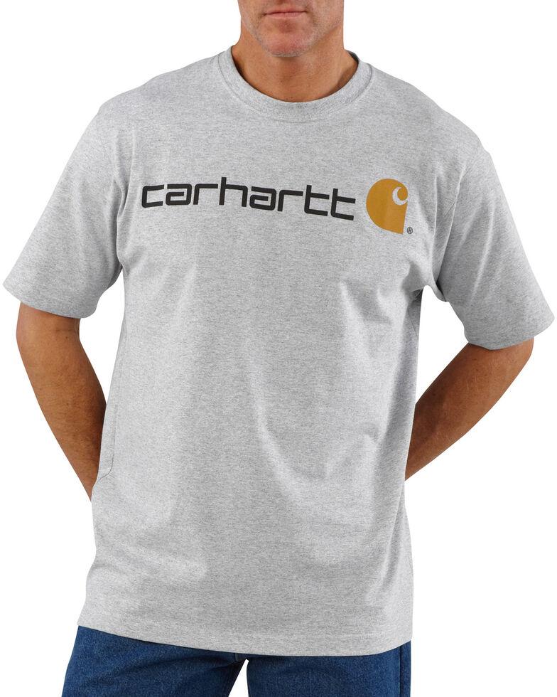 Carhartt Signature Logo Shirt Sleeve Shirt - Big & Tall, Hthr Grey, hi-res