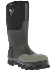 Bogs Men's Rancher Black Insulated Work Boots - Steel Toe, Black, hi-res