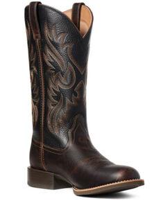 Ariat Men's Sport Doolin Western Boots - Round Toe, Brown, hi-res