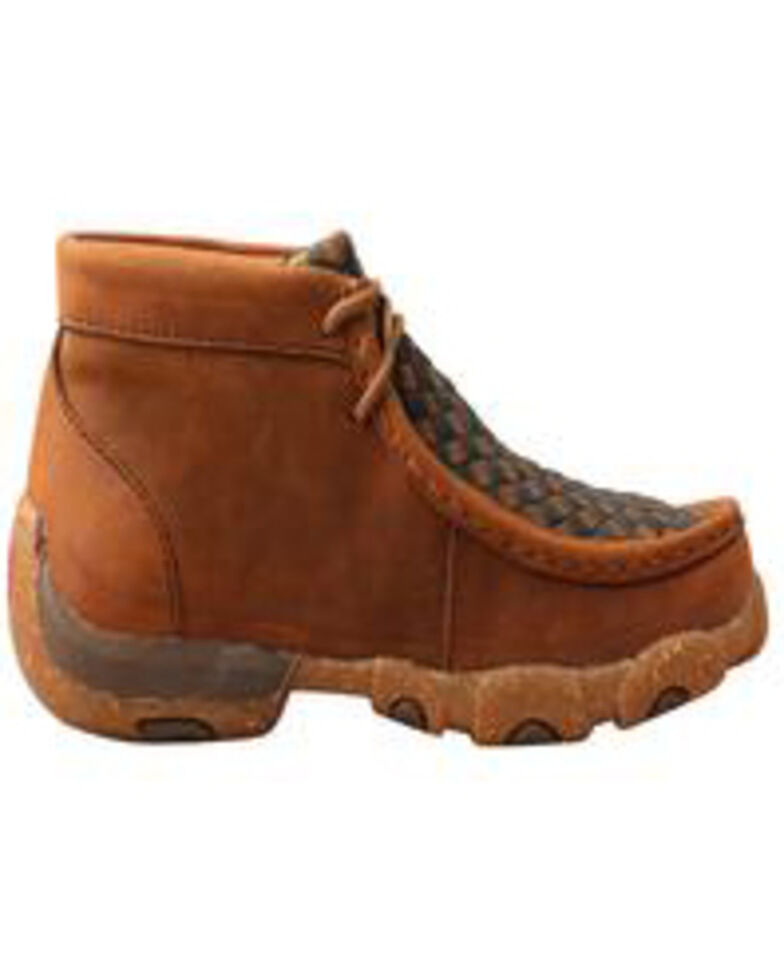 Twisted X Boys' Weave Driving Shoes - Moc Toe, Brown, hi-res