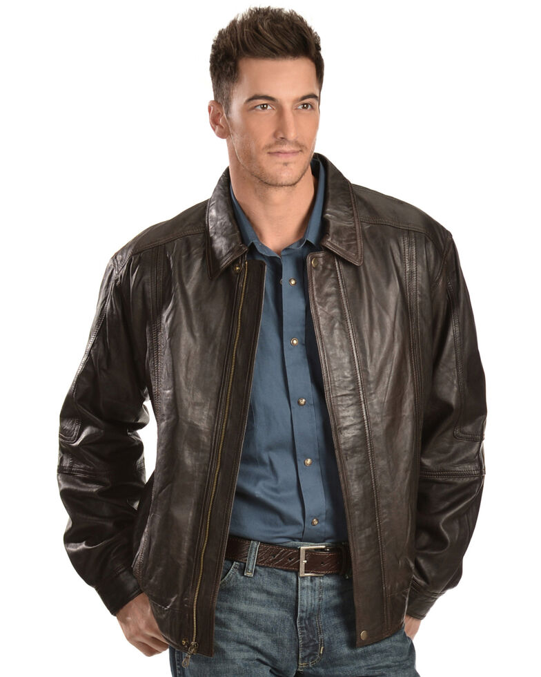 Scully Premium Lambskin Jacket - Tall, Chocolate, hi-res