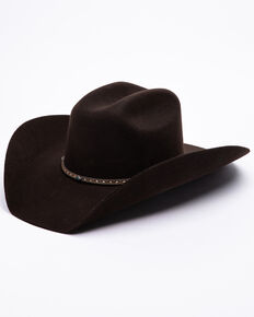 Stetson Men's 3X Ridge Row Western Felt Hat , Chocolate, hi-res