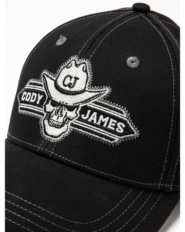 Cody James Men's Embroidered Skull Patch Baseball Cap , Black, hi-res