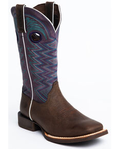 Durango Women's Lady Rebel Amethyst Western Boots - Square Toe, Brown, hi-res