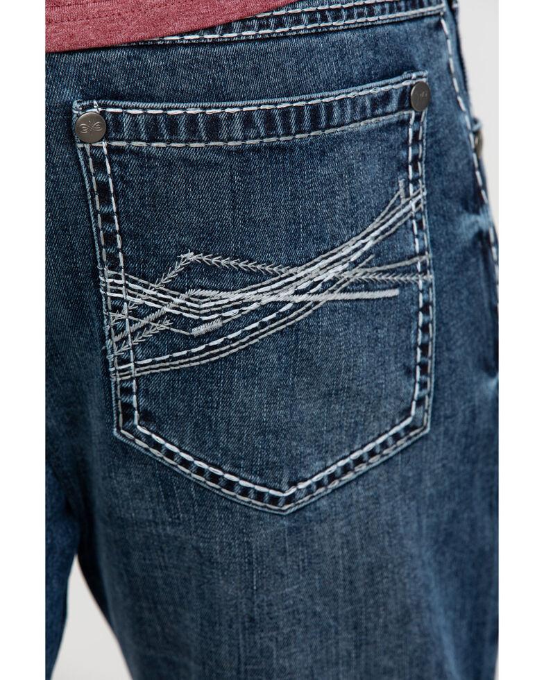 Rock 47 By Wrangler Men's Quartet Stretch Slim Straight Jeans , Blue, hi-res