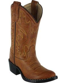 Cody James Boys' Western Boots - Pointed Narrow Toe , Tan, hi-res