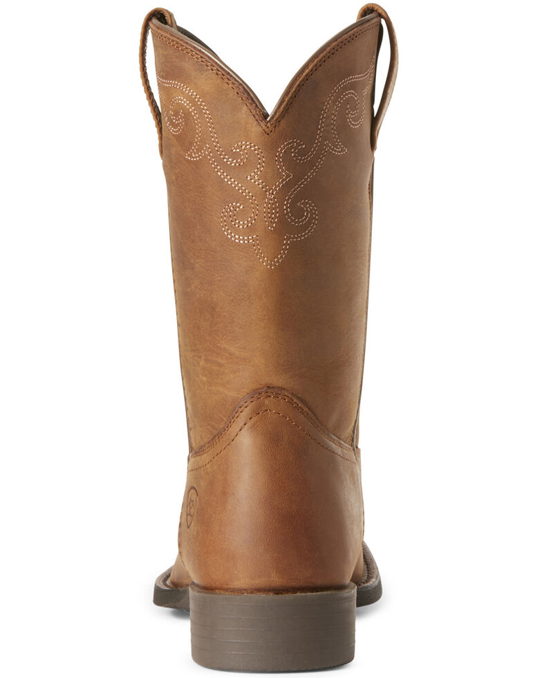 Ariat Women's Roper Lacer Western Boots - Wide Square Toe, Brown, hi-res