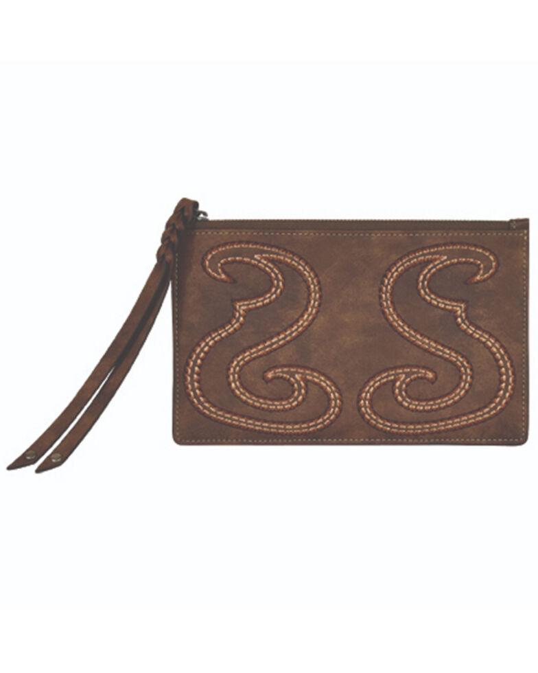 Tony Lama Women's Boot Stitch Wallet, Brown, hi-res