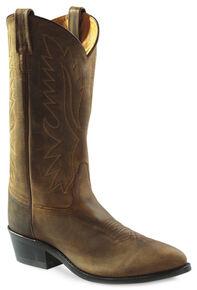 Old West Men's Distressed Polanil Western Cowboy Boots - Medium Toe, Distressed, hi-res