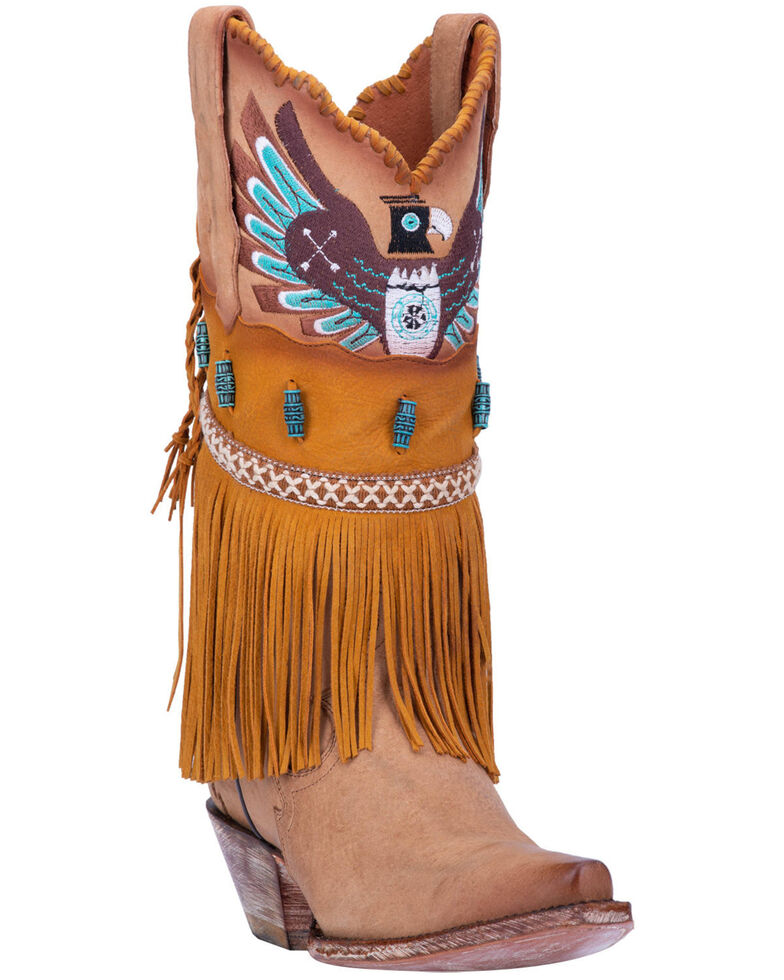 Dan Post Women's T-Bird Western Boots - Snip Toe, Camel, hi-res