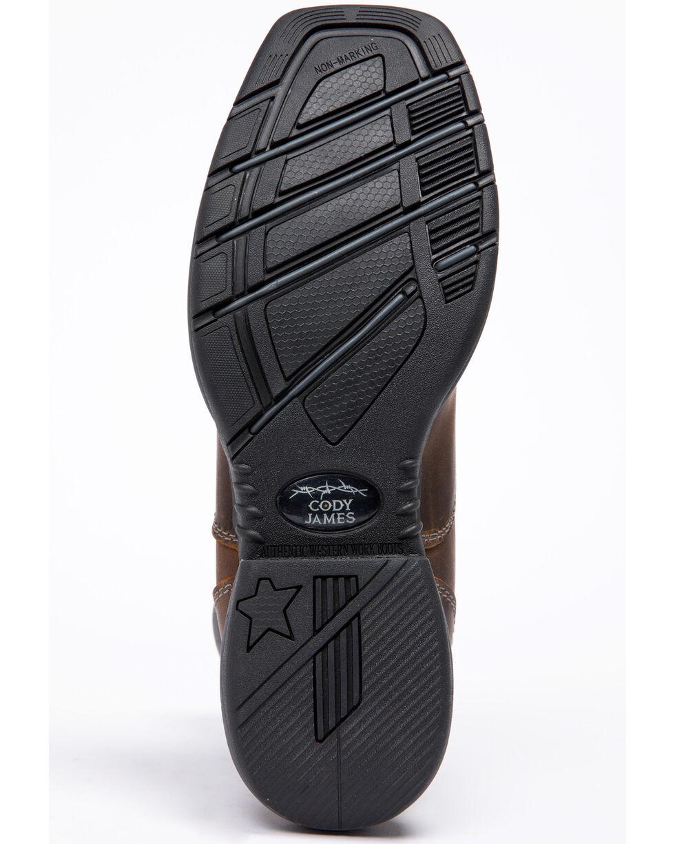 Cody James Men's Xero Gravity Lite Lacer Western Boots - Wide Square Toe, Dark Brown, hi-res