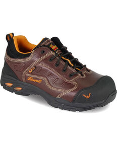Thorogood Men's VGS-300/ASR/SD Sport Oxfords - Composite Toe, Brown, hi-res