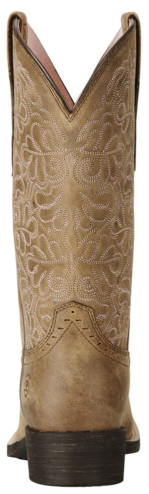 Ariat Rich Brown Round Up Remuda Cowgirl Boots - Square Toe , Sand, hi-res