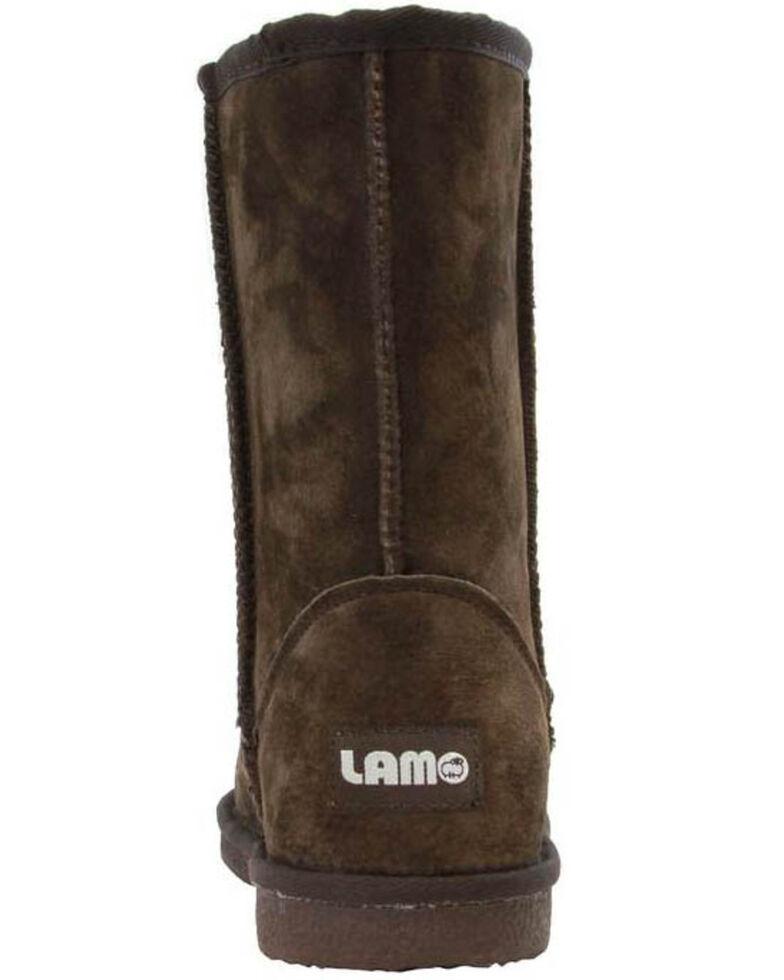 "Lamo Footwear Women's 9"" Classic Suede Boots, Chocolate, hi-res"