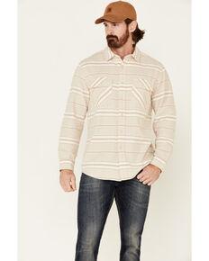 Pendleton Men's Tan Stripe Beach Shack Long Sleeve Button-Down Western Shirt , Tan, hi-res