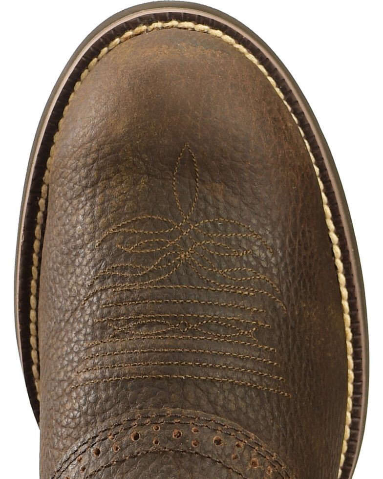 Justin Stampede Cattleman Cowboy Boots Round Toe Country Outfitter