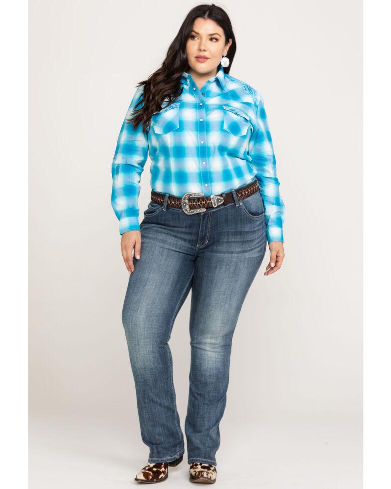 Wrangler Women's Straight Leg Jeans - Plus, Indigo, hi-res