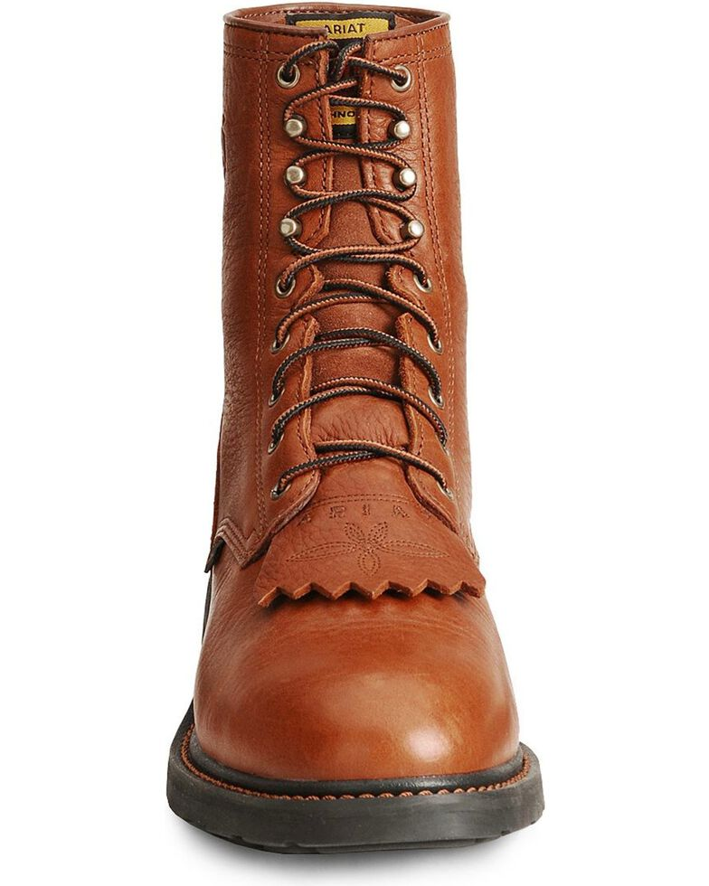 """Ariat Cascade 8"""" Lace-Up Work Boots - Steel Toe, Bronze, hi-res"""