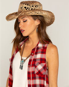 Shyanne Women's Ford Loose Weave Straw Hat, Natural, hi-res