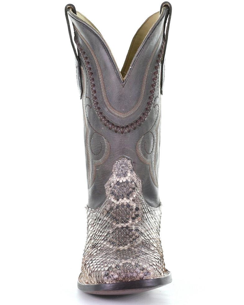 Corral Men's Exotic Rattlesnake Western Boots - Square Toe, Natural, hi-res