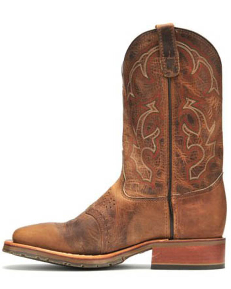 Double H Men's ICE Roper Western Work Boots - Wide Square Toe, Tan, hi-res