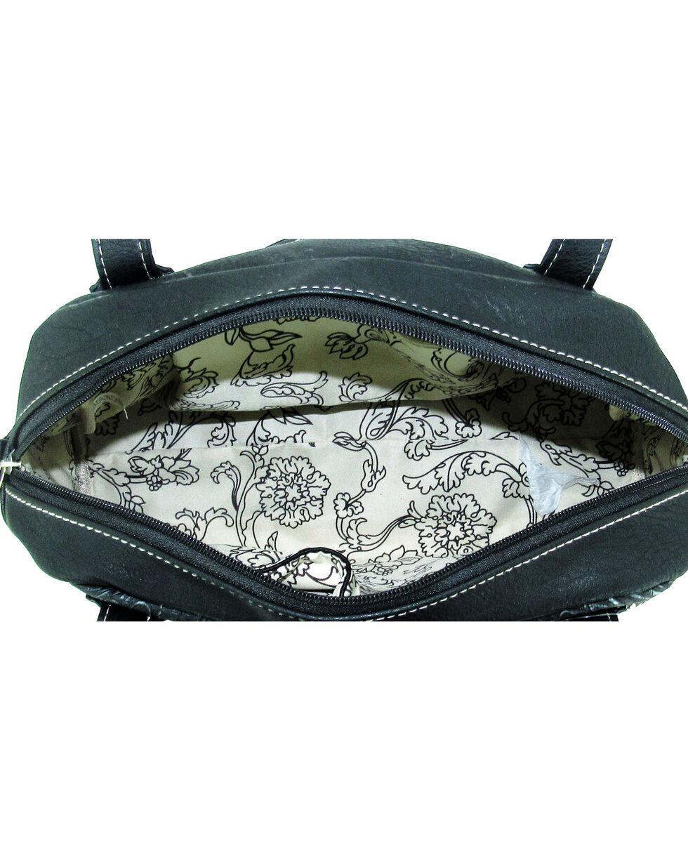 Savana Women's Faux Leather Double Pocket Handbag , , hi-res