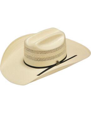 Ariat Men's 20X Natural Straw Vented Crown Cowboy Hat, Natural, hi-res