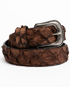 Cody James Men's Brown Pirarrcu Exotic Belt , Brown, hi-res