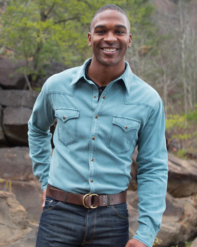 Ryan Michael Men's Bedford Corduroy Shirt , Teal, hi-res