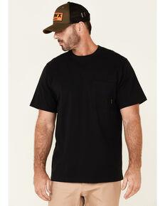Hawx Men's Solid Black Forge Short Sleeve Work Pocket T-Shirt - Big, Black, hi-res