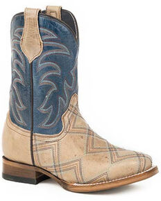 Roper Girls' Kyle Western Boots - Square Toe, Brown, hi-res