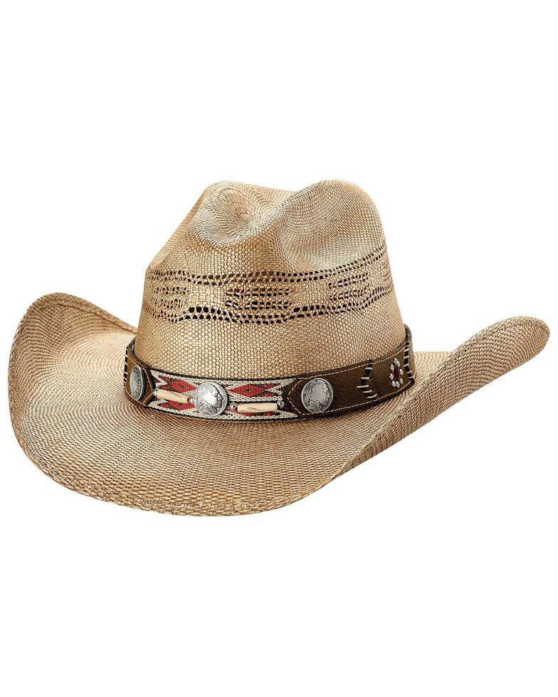 Bullhide Women's Trailblazer Straw Hat, Pecan, hi-res