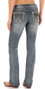 Wrangler Retro Women's Indigo Pocket with Stitch Sadie Jeans - Boot Cut , Indigo, hi-res