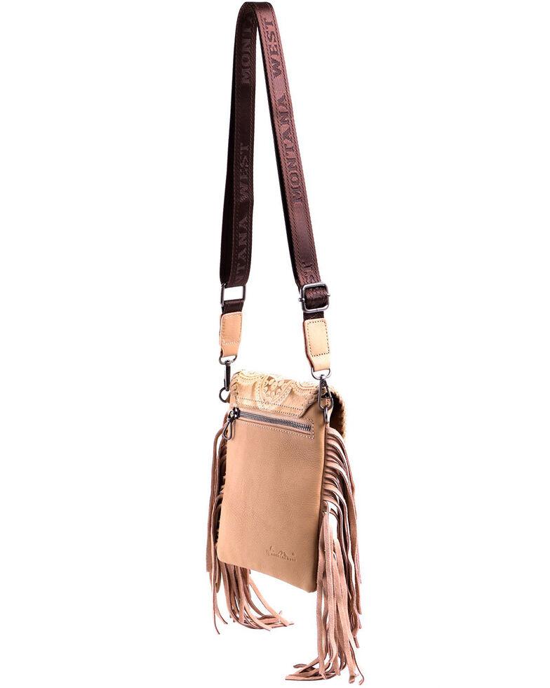 Montana West Women's Dakota Tooled Crossbody Bag, Tan, hi-res
