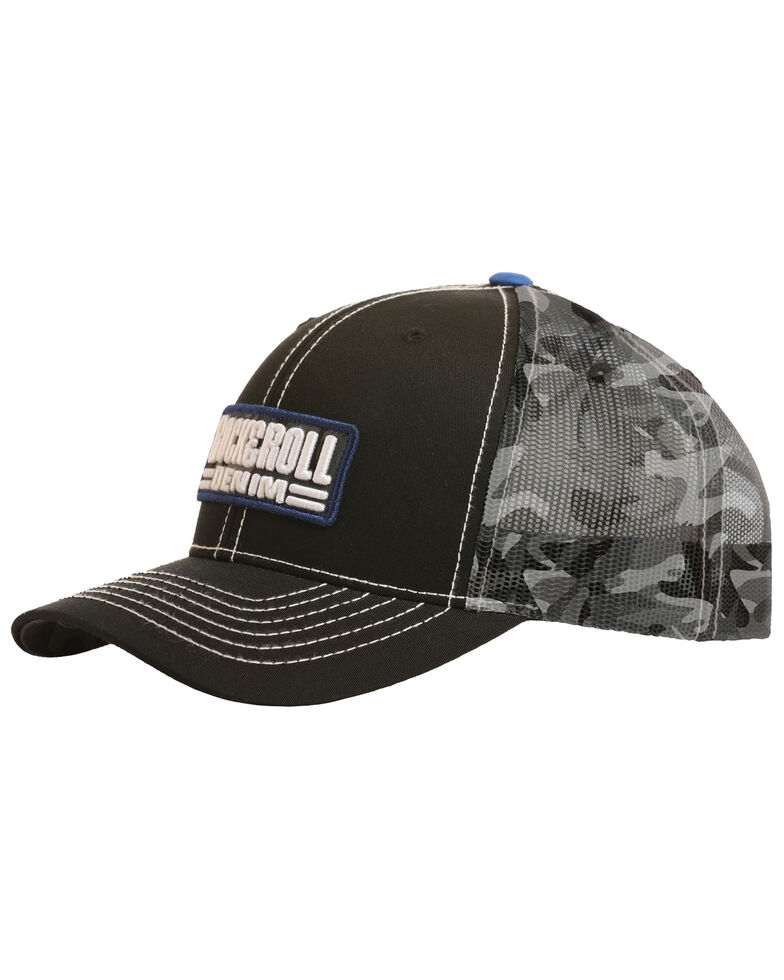 b82d887a360 Rock   Roll Denim Men s Camo Trucker Cap - Country Outfitter