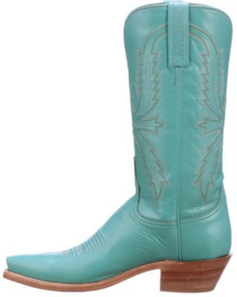Lucchese Women's Savannah Western Boots - Snip Toe, Turquoise, hi-res