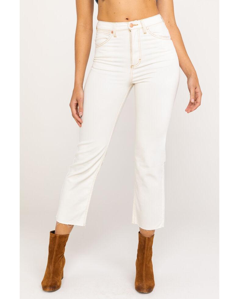 Wrangler Modern Women's Bone Ivory Heritage Crop Straight Jeans , Ivory, hi-res