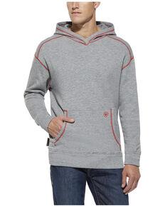 Ariat Men's FR Polartec Work Hooded Sweatshirt - Big , Grey, hi-res
