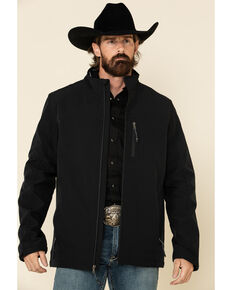 Cody James Core Men's Black Steamboat Softshell Bonded Jacket - Big , Black, hi-res