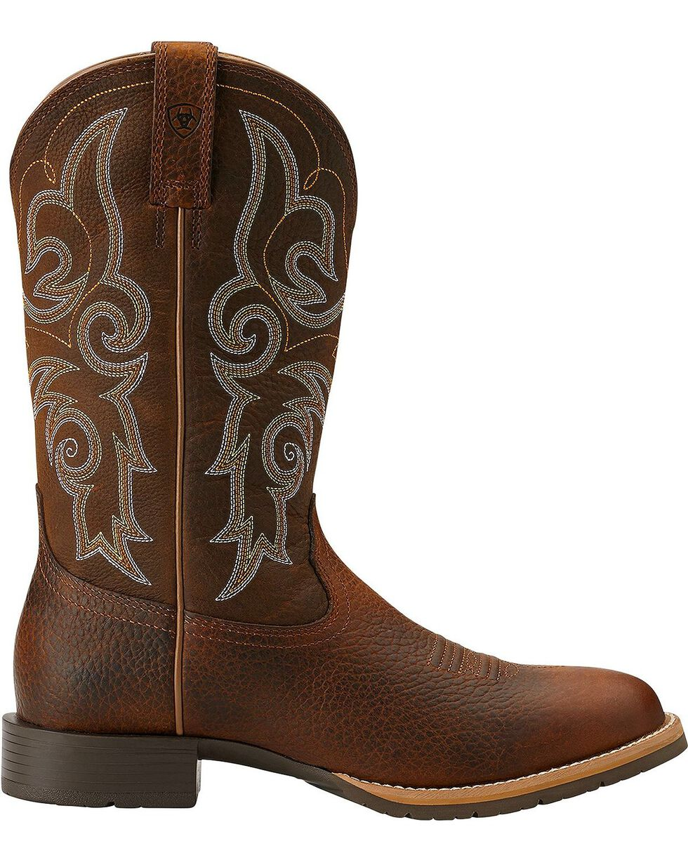 Ariat Hybrid Rancher Cowgirl Boots - Round Toe, Brown, hi-res
