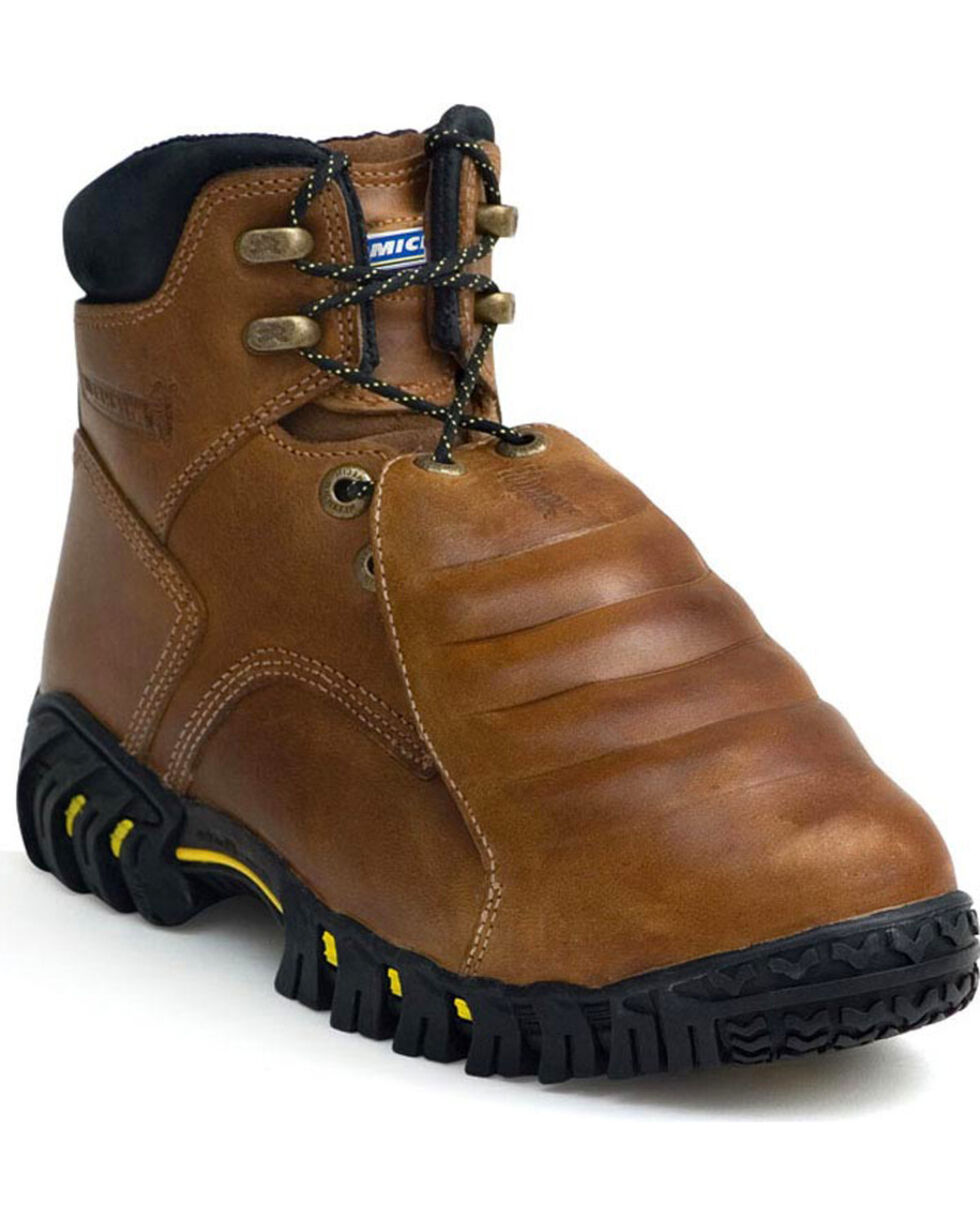 "Michelin Men's 8"" Sledge Metatarsal Work Boots - Steel Toe , Brown, hi-res"